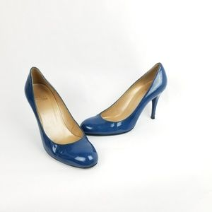 Stuart Weitzman Blue Patent Leather Classic Heels